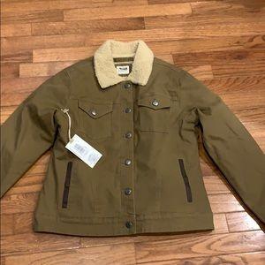 Mountain khaki ranch shearling jacket